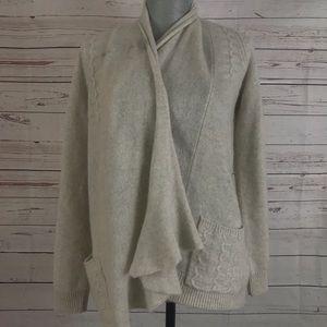 Cardigan wrap open sweater cashmere HWR Sz S